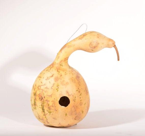 Bird Gourd Figurine: Tiny Canada Goose |Dried Gourds Goose