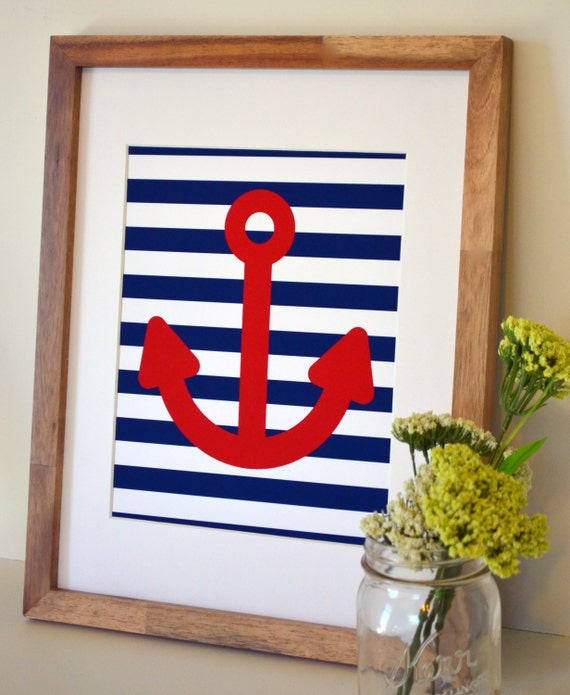 10 Images About Teen Science Themed Bedrooms On Pinterest: Items Similar To Nautical Nursery 8 X 10 Print- Anchor Art