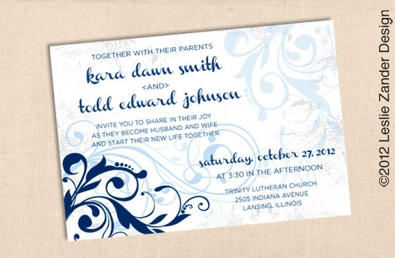 Elegant Distressed Swirled Vines wedding invitation suite deposit