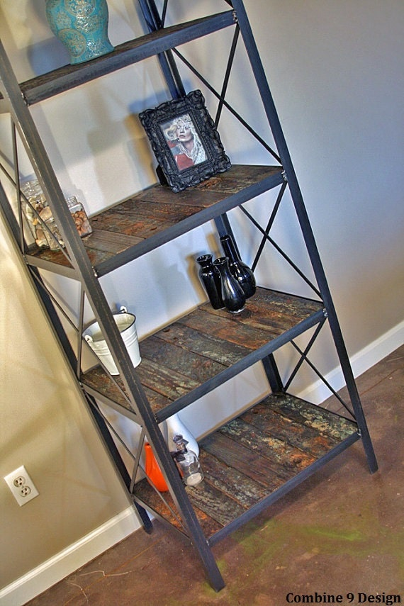 Industrial/rustic bookcase, shelving unit. Handmade using historical reclaimed wood.