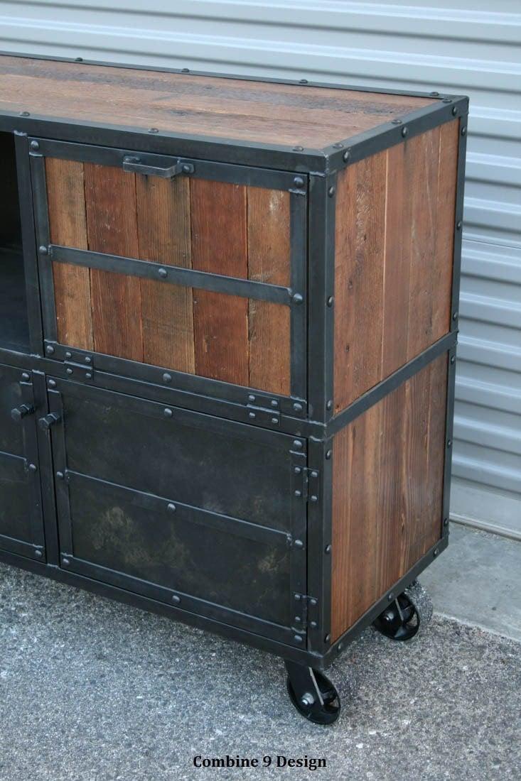bar cart liquor cabinet vintage industrial urban modern. Black Bedroom Furniture Sets. Home Design Ideas