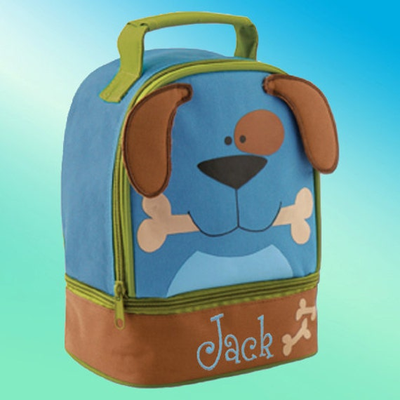 Lunchbox - Personalized and Embroidered - 2 Insulated Compartments - Lunch Pal - DOG