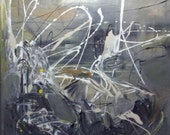 """30x30"""" Original Abstract Painting in shades of gray"""