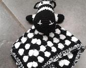 Crochet PDF Pattern - Ziggy the Zebra Lovey/Comforter