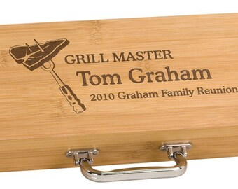 Custom Engraved Personalized Barbeque (BBQ) Tool Set - BRAND NEW