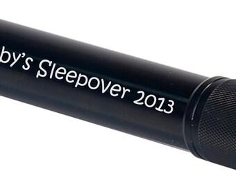 Custom Personalized 7 3/4 inch  7 LED Laserable Flashlight