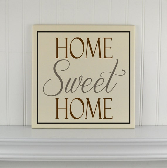 Items Similar To Home Sweet Home Sign Wood Home Signs