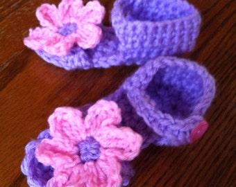 Pink & purple baby sandals