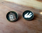 Bioshock Infinite Bird & Cage Button Set