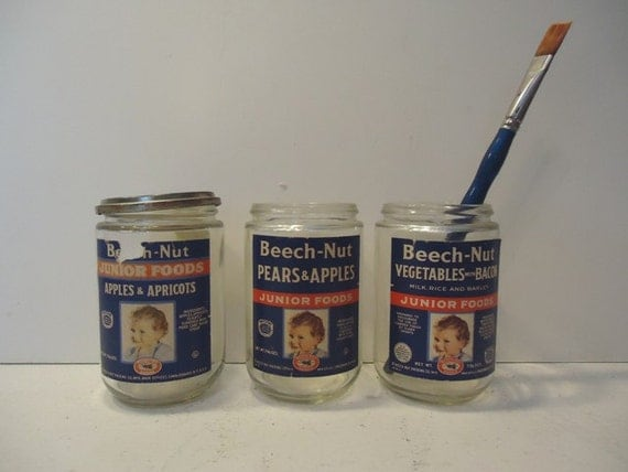 Sale Vintage Beech Nut Jars Vintage Advertising Baby Food
