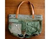 Vintage Remake - Army Tote Bag No. 2