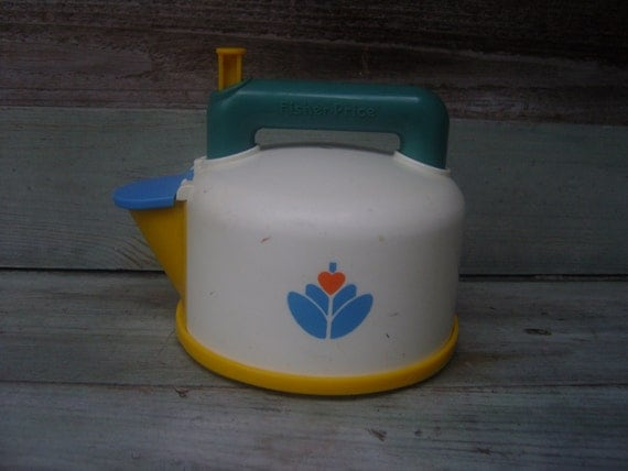 1980s Fisher Price whistling Teapot toy, vintage Fisher Price toy, whistling teapot, vintage toys