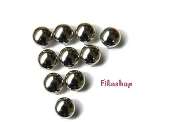 16mm 50pcs Silver round studs / HIGH Quality - Fikashop