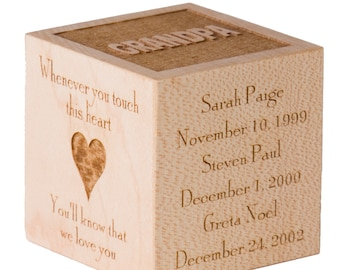 Personalized Grandparent Gift Block Great Grandparent Gift Grandchildren Gift Gift for Grandparents Gift for Great Grandparents