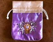 Silk Gift Bags, Hand Embroidered in Nepal, GREAT for jewelry, crystals, change, findings, tooth fairy, beads, buttons, charms