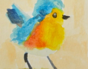 Original ACEO- Little Robin