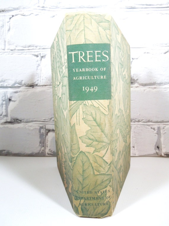 ReSeRvEd for SALLY-Trees-Vintage Green Book-Circa 1940's-FREE Shipping-Vintage Hardback-Wedding Prop