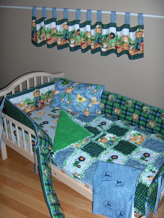 John Deere Crib Sets For Boys : Baby boy john deere teddy fabric crib bedding set bears ride