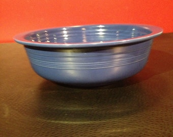 "Original Fiestaware cobalt blue 9 1/2"" nappy bowl"