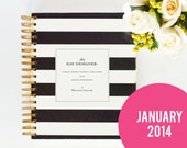 Day Designer - JANUARY 2014 - 2015 Black Rugby Stripe - A Yearly Strategic Planner & Daily Agenda for the Creative Entrepreneur - whitneyenglish