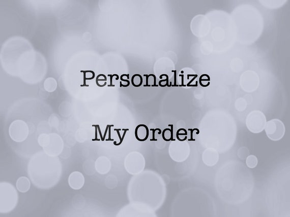 ADD ON personalization