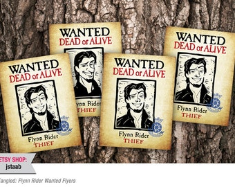 Tangled Flyers: Flynn Rider Wanted Flyers (Digital File)