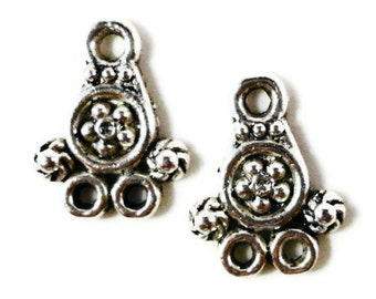 Earring Connector Findings 14x11mm Antique Silver Metal Small Chandelier Earring Jewelry Making Findings 5 Pairs (10pcs)
