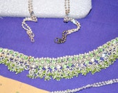 As delicious as Swarovski crystals this jewelry set is eye candy that makes you hungry to wear it