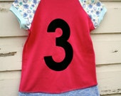 3T pink and purple number 3