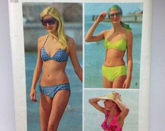 Vintage Bikini Pattern, Simplicity 5576, The Every-Body Bikini, 1970s Swimsuit