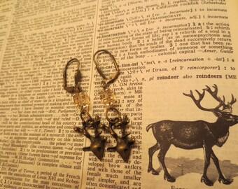 Reindeer Pink Bead Swarovski Earrings