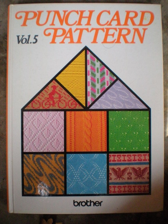 Punch Card Pattern Vol 5 Brother Knitting Book
