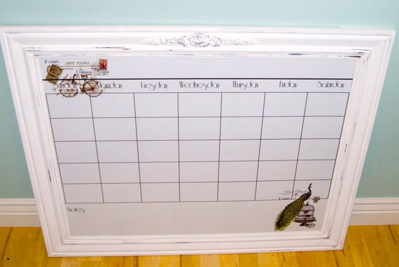 Items similar to Extra large dry erase magnetic calendar. Industrial ...