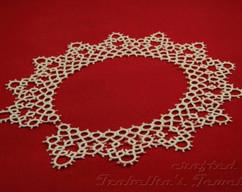 Lace tatted collar V - made to ORDER