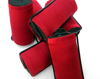 RED Foam Hair Roller Covers 6  Jumbo or Set of 12