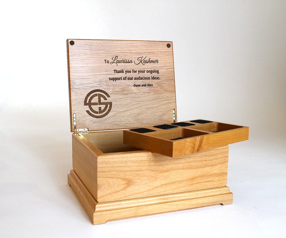 Jewelry Box, Personalized, Wedding Gift, Engraved Retirement Gift ...