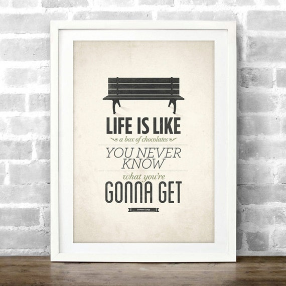 Items Similar To Life Is Like A Box Of Chocolates, Forrest