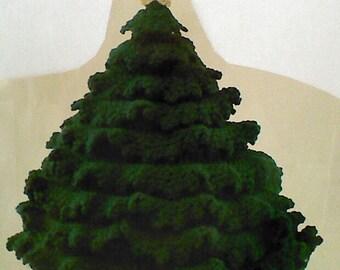 Three (3) Vintage Crochet Christmas Tree Centerpiece Patterns