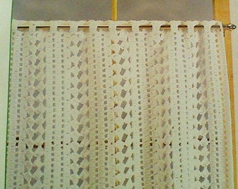 Free Crochet Edging Patterns For Curtains : crochet cafe curtain ? Etsy