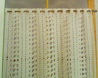 Vintage Crochet Cafe Curtain Pattern