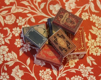 Dollhouse Miniature set of classic books ... set n. 7