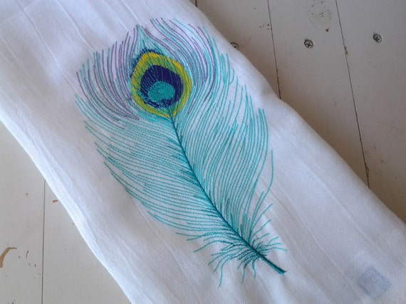 From cleaning messes, to drying dishes and glassware, to simply bringing your kitchen some charming appeal, this durable and absorbent Peacock Splendor Embroidered Cloth Dish Towel is an excellent functional and decorative homekeeping accessory.