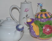 Teapot Drip Stopper - Set of 3. Stop your tea from dripping on your linen when you pour.