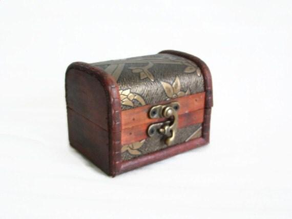 Mini Wooden Pirate Treasure Island Chest Cute By