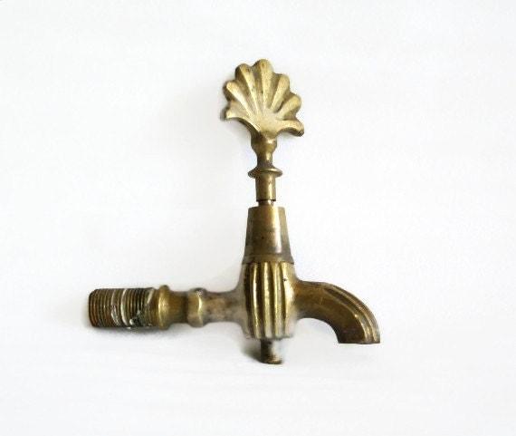 Spigot Vintage Brass Water Faucet Tap Industrial Home Bath