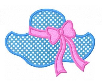 Instant Download Beach Hat Applique Machine Embroidery Design NO:1311