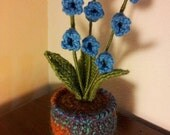 Lily of the Valley, crochet evergreen flower plant
