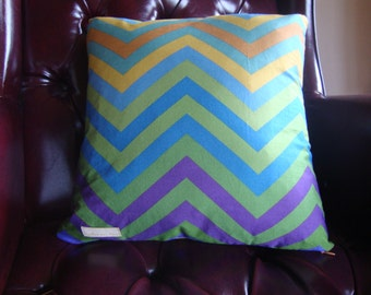 "Ombre chevron pillow cover-Set of two- 16""x16""- 'Geometrics' by Michael James"
