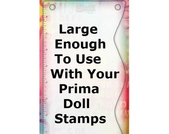 Large Stamping Block - Use with Prima Doll Stamps and Dylusions Couture Collection - 9 x 5