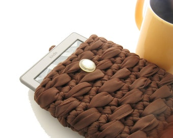 Crochet Kindle Case, Brown Kindle Cover